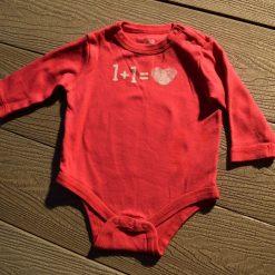 Cache- couche 1+1 rouge fille bébé