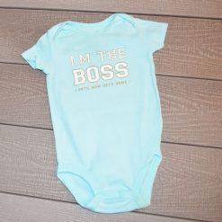 Cache- couche Boss bleu pâle fille bébé