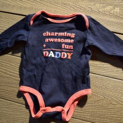 Cache- couche Daddy bleu fille bébéF206