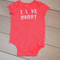 Cache-couche I love mommy rouge Gap fille bébé