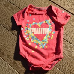 Cache- couche Puma rose fille bébé