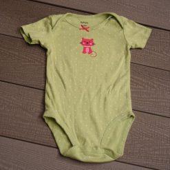 Cache- couche chat vert fille bébé