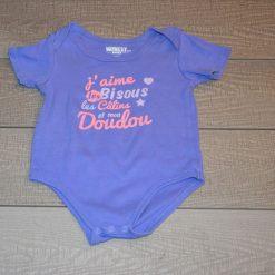 Cache- couche doudou bleu fille bébé F376