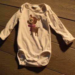 Cache- couche blanc renne fille bébé