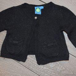 Cardigan brillant noir fille bébé