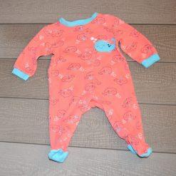 Pyjama rose baleine Pekkle bébé fille