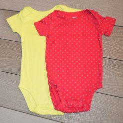 Duo cache-couche vert rouge Carter's fille bébé