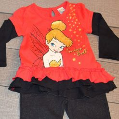 Ensemble Chandail fée rouge et pantalon noir fille bébé F233