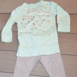 Ensemble Chandail Pantalon gris étoile fille bébé