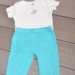 Ensemble cache-couche lapin et pantalon Carter's fille bébé
