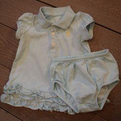 Ensemble robe polo et culotte fille bébé