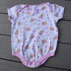 Cache- couche Winnie Pooh blanc rose fille bébé