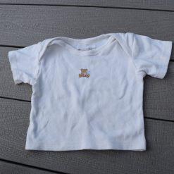 Chandail blanc ours bébé fille