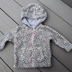 Veste léopard gris bébé fille