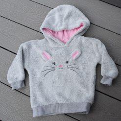 Veste souris grise bébé fille