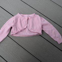 Cardigan rose bébé fille