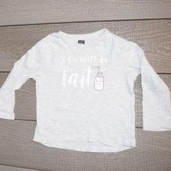 Chandail lait Tag fille bébé