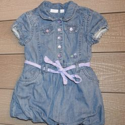 Robe jean bleu fille bébé F368