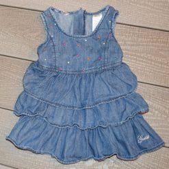 Robe jean froufrou fille bébé