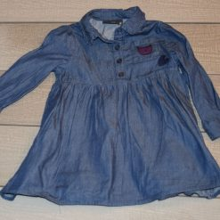 Robe jean bleu évasé fille bébé