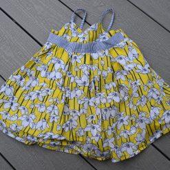 Robe fleuri jaune été bébé fille