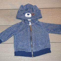 Veste à capuchon bleu ours bébé garçon