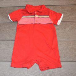 Combinaison uni rouge courte bébé garçon G609