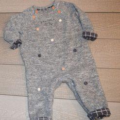 Combinaison grise une pièce bébé garçon