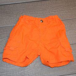 Short bouton orange court bébé garçon
