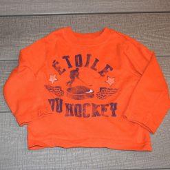 Chandail orange long étoile hockey bébé garçon