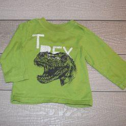 Chandail vert T-rex long bébé garçon