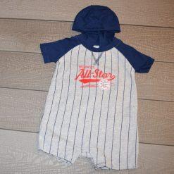 Combinaison bleu marine courte bébé garçon