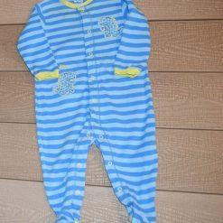 Pyjama rayé bleu dinosaure Pekkle bébé garçon