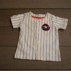Chandail rayé blanc baseball court bébé garçon