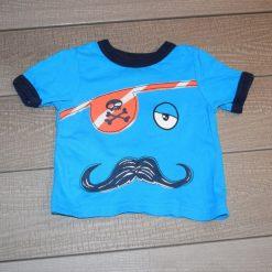 Chandail monsieur pirate bleu court bébé garçon