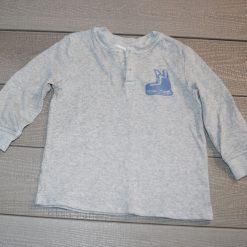 Chandail gris patin garçon enfant