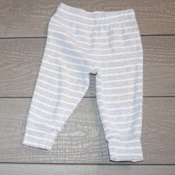 Pantalon blanc gris bébé garçon