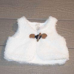 Veste blanche fausse fourrure bébé garçon