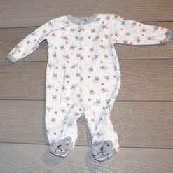 Pyjama blanc gris ours bébé garçon