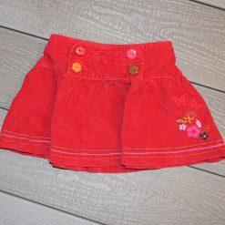 Jupe velours rouge Églantine Capucine fille bébé