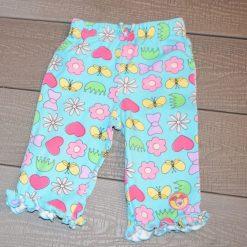 Pantalon bleu coloré bébé fille
