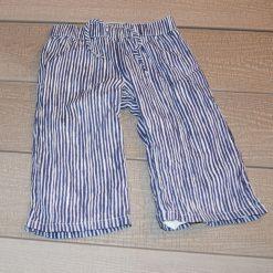 Pantalon bleu rayé fille bébé