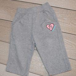 Pantalon évasé gris fille bébé