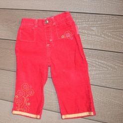 Pantalon rouge fille bébé