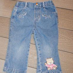 Pantalon jean bleu ours fille enfant