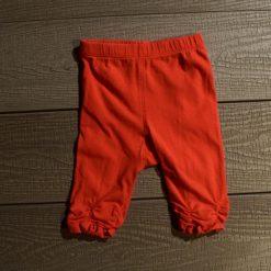 Pantalon rouge vif bébé fille