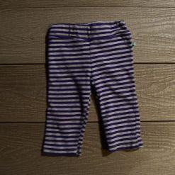 Pantalon rayé bleu bébé fille