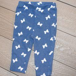 Pantalon boucle bleu bébé fille