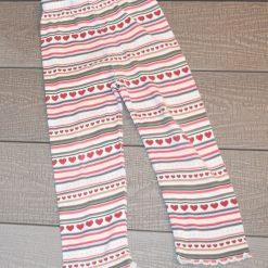 Pantalon rayé blanc fille enfant