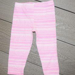Pantalon rose rayé blanc bébé fille